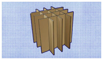 Slotted Corrugated Dividers
